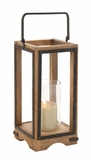 Amazing Styled Wood Metal Glass Lantern by Woodland Import