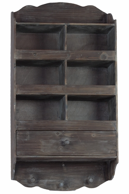 Amazing Vintage Wooden Hanger with Drawer and Hooks