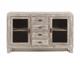 Amazing Wooden Finish Aria 2 Door 4 Drawer Buffet