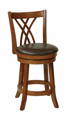 Amazingly Designed Swivel Barstool with Faux Leather by Office Star