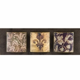 Amazingly Painted Fleur-de-lis European Painting by Yosemite Home Decor