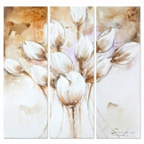 Amazingly Styled Classy Pale Tulips Painting by Yosemite Home Decor