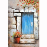 Amazingly Styled Little Blue Door Fabulous Painting by Yosemite Home Decor