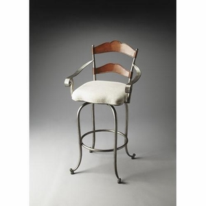"""Amberton Metal & Wood Bar Stool 22.25""""W by Butler Specialty"""