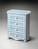 "Amelia Blue Bone Inlay Accent Chest 23""W by Butler Specialty"