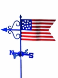 American Flag Garden Weathervane w/Roof Mount by Good Directions