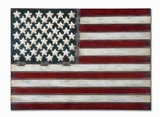 American Flag Wall Art With Hand Forged Metal Brand Uttermost