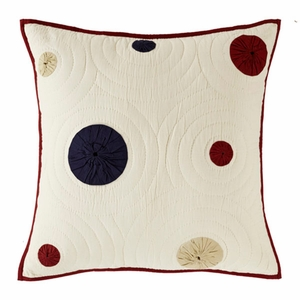 """American Parade Euro Sham Quilted 26x26"""" Brand VHC"""