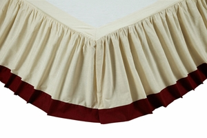 """American Parade King Bed Skirt 78x80x16"""" Brand VHC"""
