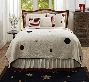 American Parade Queen Quilt with Contemporary Design Brand VHC