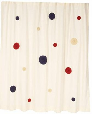 American Prade Shower Curtain with Embedded Yo-Yo Design Brand VHC
