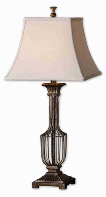 Anacapri Style Antique Table Lamp With Burnished Gold Highlights Brand Uttermost