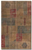 Anadolu 6' Hand Knotted Wool Rug with Deep Red and Aged Blue Brand Uttermost