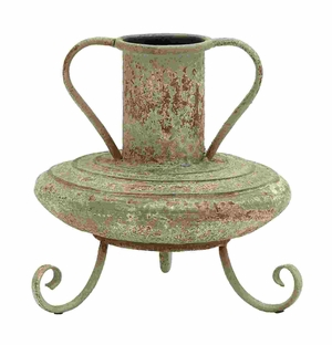 Ancient Egyptian Style Pottery Vase With Scrolling Legs Brand Woodland