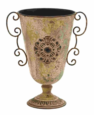 Ancient Greek Style Pottery Vase With Scrolling Handles Brand Woodland