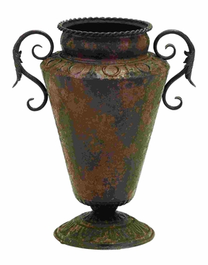 Ancient Roman Style Pottery Vase With Scrolling Handles Brand Woodland