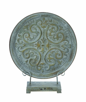 Ancient Roman Style Table Top Plate Decor In Rusted Iron Brand Woodland