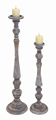 Ancona Antiqued Charismatic Candle Holder Set Brand Benzara