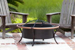 Ancona Fire Pit, Elegant And Compact Heating Accessory by Well Travel Living