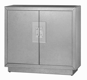 Andover Mirrored Cabinet With Mirror Facets and Adjustable Shelf Brand Uttermost