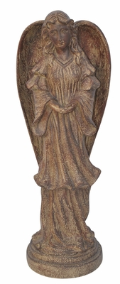 Angel Statuary in Brown Color - Small by Alpine Corp