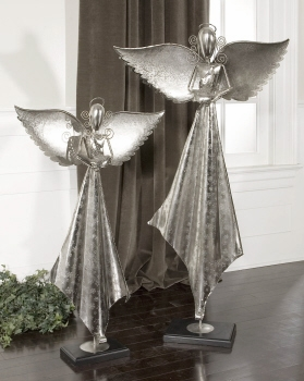 Angels Sculpture S/2 Table Decor To Get Blessings For Prosperous Life Brand Uttermost