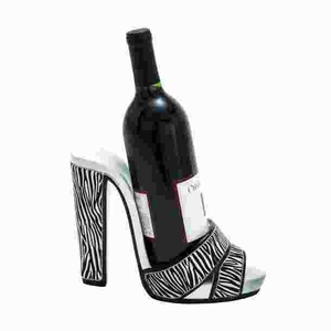 Animal Print Shoe Wine Holder with Attractive Stiletto Design Brand Woodland