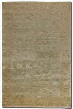 "Anna Maria 16"" Hand Knotted New Zealand Wool Rug in Light Blue Brand Uttermost"