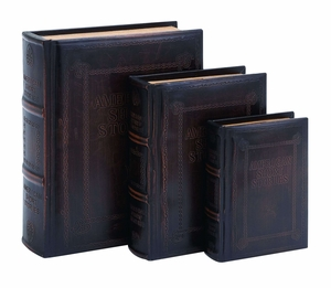 Antique American Short Stories Book Box Set In Smooth Leather Brand Woodland