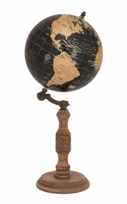 Antique and Unique Globe Stand by Woodland Import