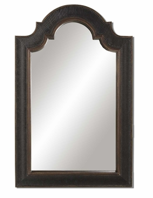 Antique Arched Mirror with Black And Gold Finish Brand Uttermost