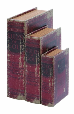Antique Book Box Set With The Rules Of Golf Theme Brand Woodland