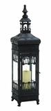 Antique Changsha Metal Glass Lantern by Woodland Import