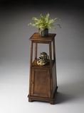 "Antique Cherry Pedestal Cabinet 12""W by Butler Specialty"