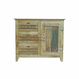 Antique Designed Natural Wood Finish Cabinet by Yosemite Home Decor
