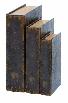 Antique London Bridge Book Box Set In Aged Leather Brand Woodland