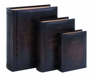Antique Lord Is My Shepherd Book Box Set In Smooth Leather Brand Woodland