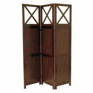 Antique & Magnificent Bergen 3-Panel Wooden Room Divider by Winsome Woods