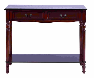 Antique Mahogany Wood Console Table With Storage Drawers Brand Woodland