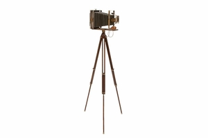 Antique Metal Camera D�cor, 57 Inch Height, 24 Inch Width Brand Woodland