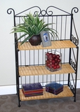 Antique Metallic 3 Tier Bookcase with Matt Shelves by 4D Concepts