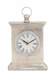 Antique Styled Aluminum Table Clock by Woodland Import