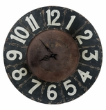 Antique Styled Black Finished Balencia Clock by Cooper Classics
