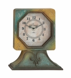Antique Styled Designed Wood Table Clock by Woodland Import