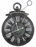 Antique Styled Gray Metal Finish Holbrook Clock by Cooper Classics