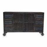 Antique Styled Metal Cabinet by Yosemite Home Decor
