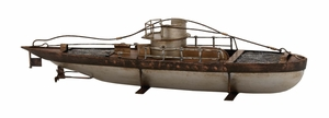 Antique Styled Rustic Metal Ship D�cor by Woodland Import