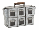 Antique Styled Striking Metal 6 Drawers by Woodland Import