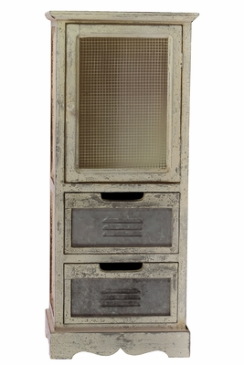 Antique Themed Faded Style Wood Cabinet by Urban Trends Collection