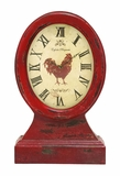 Antique Vintage Farmer Themed Table Top Clock In Aged Wood Brand Woodland